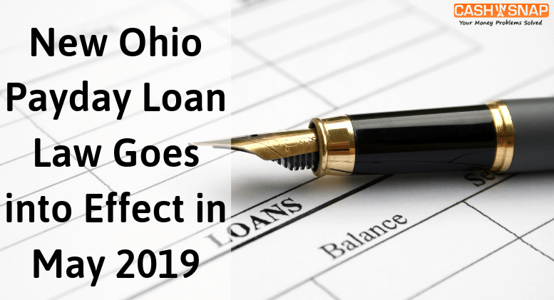 New Ohio Payday Loan Law Goes into Effect in May 2019