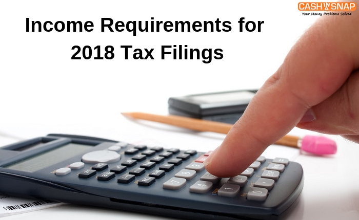 Income Requirements for 2018 Tax Filings