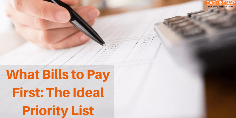 What Bills to Pay First The Ideal Priority List