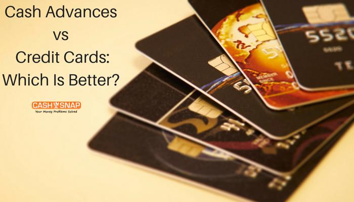 Cash Advances vs. Credit Cards