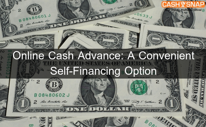 Online Cash Advance: A Convenient Self-Financing Option