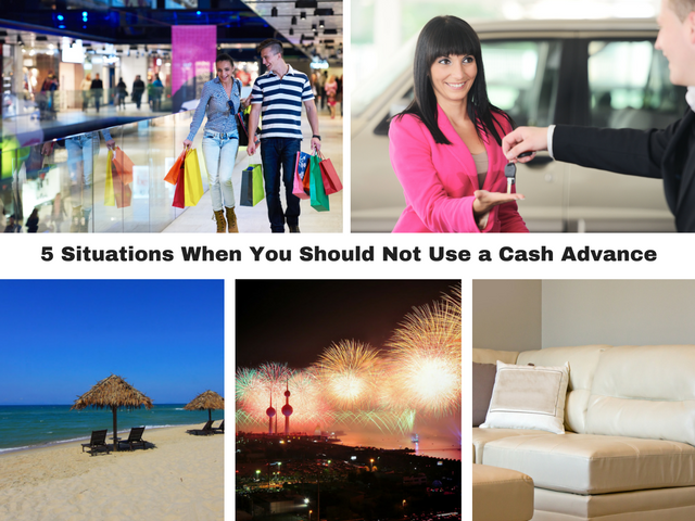 5 Situations When You Should Not Use a Cash Advance
