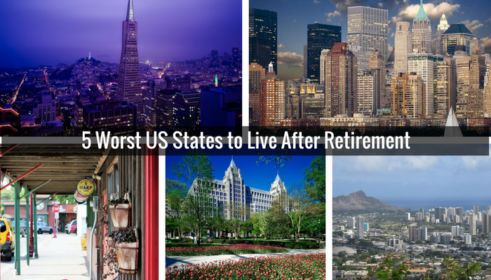 5 Worst US States to Live After Retirement
