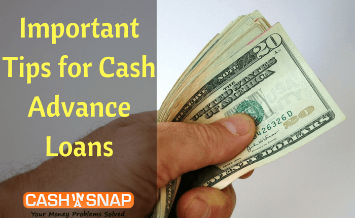 Important Tips for Cash Advance Loans